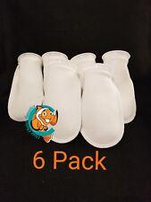 "Six (6) 4"" Filter Socks 4""x10"" Felt 200 Micron sock Aquarium Reef Wet Dry Sump"
