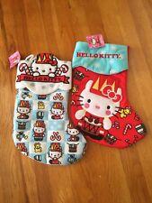 "2 Hello Kit 00004000 Ty 15"" Christmas Stockings By Sanrio"