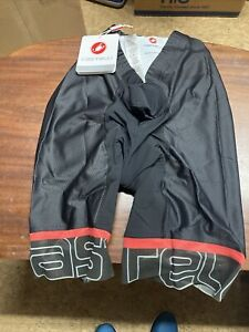 ! Castelli Volo Mens bike shorts XL Black/Red