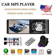 4.1'' 1DIN Car Stereo Radio BT FM USB AUX MP4 MP5 Player Wheel Control US