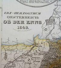 ALT-u. grenzkol. acero mapa clave del mineral-Herzogthum si el Enns de Renner 1849