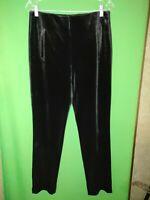 3572) NWOT CHICO'S 0.5 black velour velvet skinny pants elastic waist new 0.5