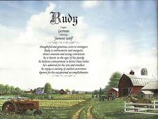 """Farm"" Personalized Name Meaning Keepsake Birthday Baby Shower Print"