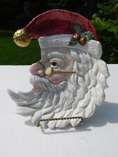 Fitz and Floyd Omnibus 1995 Christmas Santa Claus Canape Tidbit Serving Plate