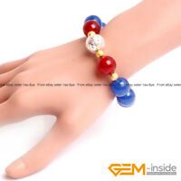 Handmade Assorted Colors Beaded Jade Bracelet Fashion Jewelry For Women 7 1/2""
