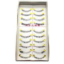 10Paare x Falsch Unter Wimpern Makeup Kunstfaser schwarz Unterwimpern strip lash