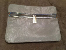 CLARINS WHITE GLITTERY MAKE UP BAG