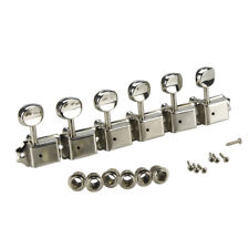 Beschläge Adapter Gold Silber Tuning Schlüssel 10mm Umbau Buchsen Gitarre Neu 6x