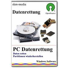 Datenrettung, Wiederherstellung gelöschter Daten, Bilder, Grafiken usw.   ✔ CD