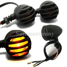 4x Amber Motorcycle Black 12 NEW Turn Signals Indicators Blinker Light Universal