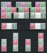 Federale W 17 X-S 52 x post fresco 15 Heuss insieme stampe BRD 1958 ZD da MH 4 MNH