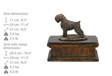 Black Russian Terrier, dog exclusive urn made of cold cast bronze, Art Dog, Usa