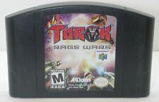 Nintendo N64 Turok Rage Wars Game Cartridge. Works. 13575