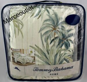 Tommy Bahama Home Serenity Palms Collection FULL / QUEEN Quilt Aqua Multi