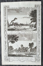 1795 Boswell Antique Print Views of Westminster, London & Windsor, Berkshire, UK