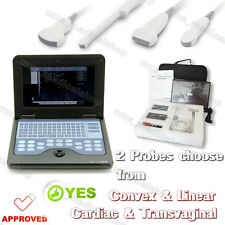 CE CONTEC Portable laptop machine Digital Ultrasound scanner with 2 Probes