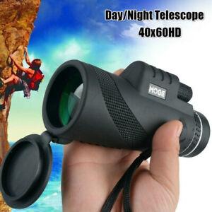 40X60 HD Day Night Vision High Focus Optics Zoom Military Monocular Telescope