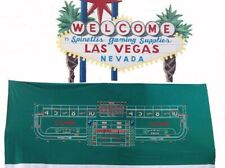 Casino Style Craps Layout - 12ft Generic Synthetic Polyester Felt Green NEW*