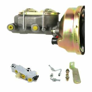 """1960-66 Chevy Truck C10 C20 9"""" Power Brake Booster Kit Side Disc/Drum 3Q1A1"""