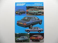 Catalogue / brochure AUSTIN ROVER de 1985 en français