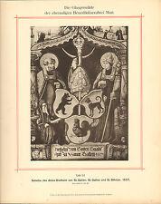 1892 large german print -  st gallus und st. omthmar 1557