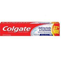 Colgate Baking Soda - Peroxide Whitening Toothpaste, Brisk Mint 8 oz