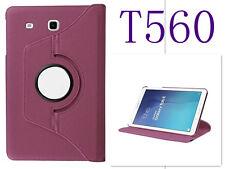"""FUNDA TABLET +PROTECTOR SAMSUNG GALAXY TAB E 9.6"""" T560 T565 GIRATORIA MORADO"""