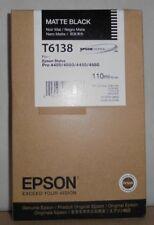 ORIGINALE Epson t6138 INCHIOSTRO MATTE BLACK Stylus Pro 4400 4800 4450 4880 2014 OVP