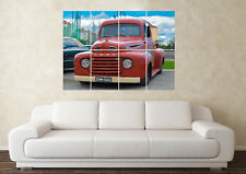 Large Ford F1 Pickup Truck American Hotrod V8 Muscle Poster Art Picture Print