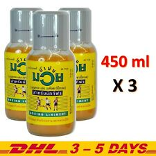 Muay Thai Boxing Liniment Namman Muay Thai Oil, Kickboxing Oil 450 ml - LOT of 3