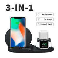 For Apple Watch iWatch iPhone X/8 3in1 Qi Wireless Charger Fast Charging Pad