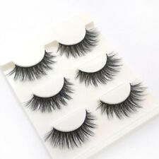 3 Paare Schwarz Wimpern Augen Make Up 3D Lange Falsche Kunstliche Eye Lashes Set