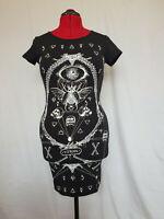 Jawbreaker Vitriol Tattoo Occult Tshirt Gothic Black Cut Out Spine Mini Dress
