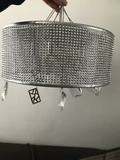 John Lewis Tiffany Mesh Semi Flush Ceiling Light, Chrome – RRP £130