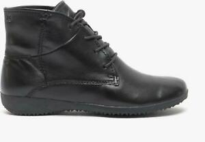 Josef Seibel NALY 09 Ladies Womens Casual Lace Up Leather Ankle Boots Black
