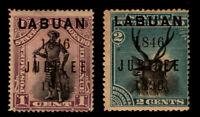Labuan - SG# 83 & 84 MHH (rdist gum) / 1846/1896 Jubilee ovpt  -    Lot 1119161