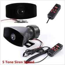 12V Car Alarm 5 Tone Sound Siren Horn PA System 300db Super Loud SUV Motor Van