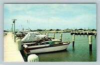 Crisfield MD, Scenic Greeting, Somers Cove Marina, Maryland Chrome Postcard