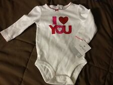 Carters Baby Girls Happy Birthday To Me Bodysuit 18 Months New 9M White