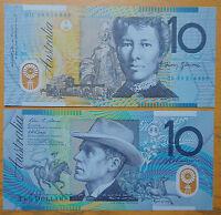 Australia Polymer Plastic Banknote 10 Dollars 2008 UNC