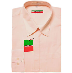 New PINK Fly Front hidden buttons men's dress shirts formal party prom wedding