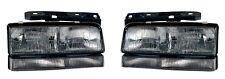 Fits 92 93 94 95 96 Buick Lesabre Headlight Pair Set Both NEW with Black Trim