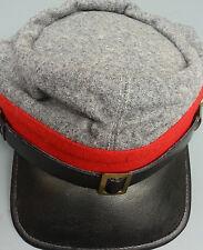 REPRODUCTION CIVIL WAR RED CONFEDERATE ARTILLERY  KEPI HAT SMALL