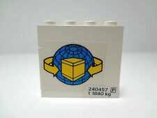LEGO White Panel 1 x 4 x 3 with Cargo Logo (Sticker)