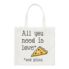 All You Need Is Love And Pizza Small Tote Bag - Valentines Day Funny