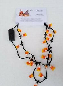 """NWT PIER 1 LED Light Up 17"""" Candy Corn Halloween Necklace 3 Modes WORKS HTF"""