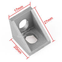 10PCS 20x20mm Grey Aluminum L Shape Brace Corner Joint Right Angle Bracket Pn