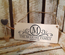 Personalised Family Surname Sign  | New Home | Marriage Sign Wedding Name Sign