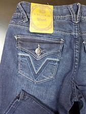 Vigold Boot Cut Jean Tall Jr's 5 X 35 Inseam Button Flap Stiched Back Pockets