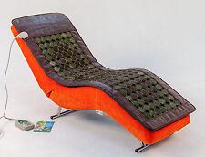220V Jade Tourmaline Stones Mat Negative Ions InfraRed Spa Yoga Heat Therapy Pad